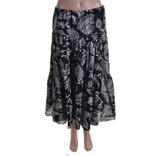 Lauren Ralph Lauren Womens Cotton Printed Peasant, Boho Skirt - S