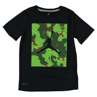 Jordan Boys Jumpman Air Flight Flex T Shirt Black - black/green/red (2 options available)