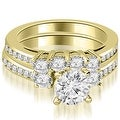 2.27 cttw. 14K Yellow Gold Round Cut Diamond Engagement Set - White H-I - Thumbnail 0