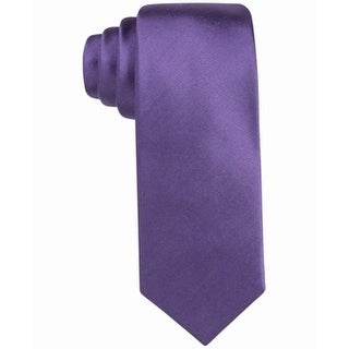 Alfani Purple Bennington Solid Skinny Men's Silk Blend Neck Tie