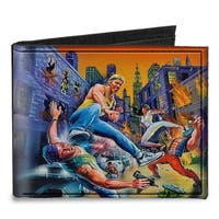 Streets Of Rage 8 Bit Box Cover Street Fight Canvas Bi Fold Wallet One Size - One Size Fits most