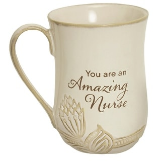 Link to Abbey and Ca Gift You Are an Amazing Nurse Mug - 14 oz. Coffee Mug with Floral Accent, Beige - 5 Inch x 3.5 Inch Similar Items in Dinnerware