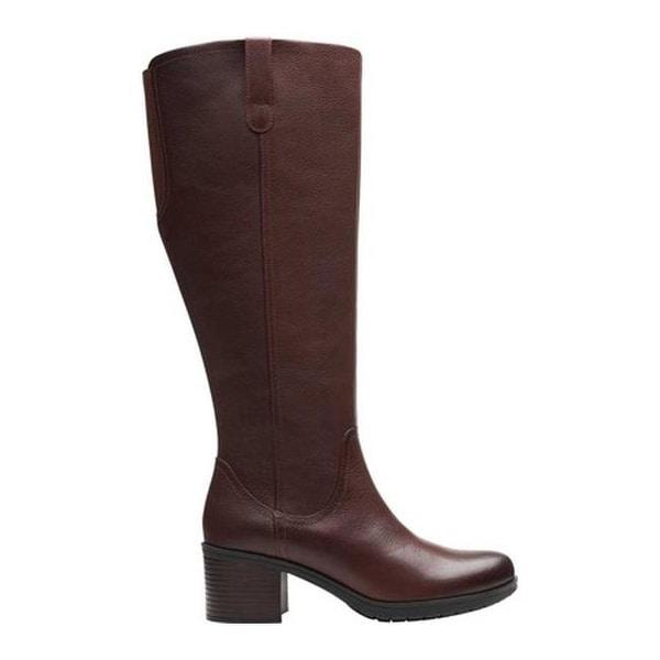 Wide Calf Mahogany Leather