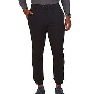 Nautica NEW Solid True Black Mens Size 3XLT Fleece Drawstring Pants