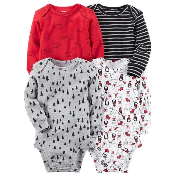 de9e78f18 Shop Carter's Baby Boys' 4-Pack Long-Sleeve Original Bodysuits, 6 Months -  Free Shipping On Orders Over $45 - Overstock - 20743198