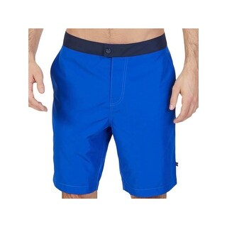 Nautica Mens Quick Dry Colorblock Board Shorts