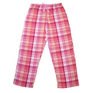 Hanes Women's Plaid Cotton Pajama Pants - Medium