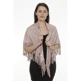Women's Faux Suede Fringed Cape Shawl Wrap Scarf, Large Triangle|https://ak1.ostkcdn.com/images/products/is/images/direct/0808fb049dcc95e5cfc34608aebce0c3d3d937bf/Women%27s-Faux-Suede-Fringed-Cape-Shawl-Wrap-Scarf%2C-Large-Triangle.jpg?impolicy=medium