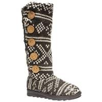 Muk Luks Malena Crotchet Women's Knit Sweater Boot