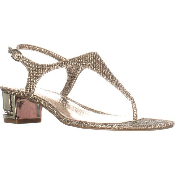 Adrianna Papell Cassidy T-Strap Sandals, Platino