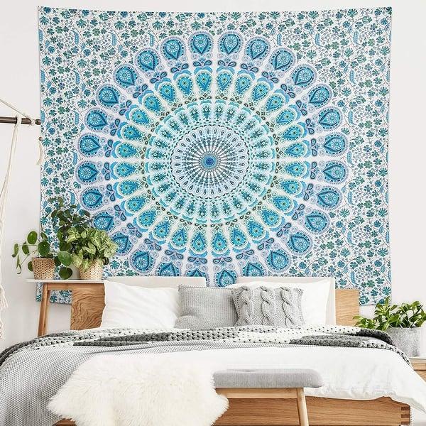 Shop Americanflat Mandala Tapestry Wall Hanging Bedroom Dorm Decor Beach Towel Yoga Mat On Sale Overstock 31719353