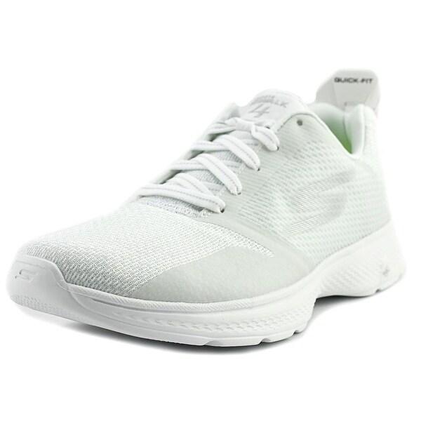 Skechers GoWalk 4 - Elect Men Round Toe Synthetic White Walking Shoe