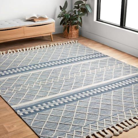 Alexander Home Isaiah Moroccan Hand Loomed Geometric Wool Rug