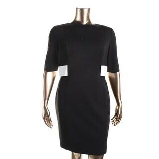 Lauren Ralph Lauren Womens Vanessa Wear to Work Dress Contrast Trim