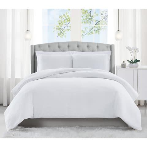 Charisma Solid Matelasse 3 Piece Comforter Set