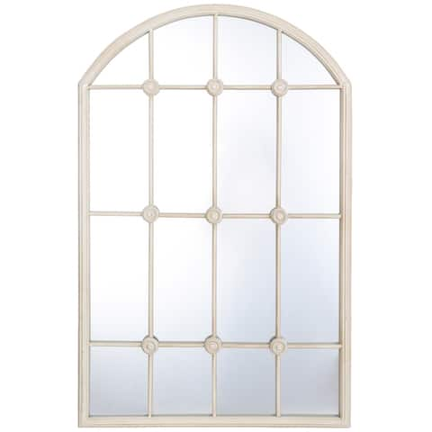 StyleCraft Taylor Taupe Metal Window Pane Wall Mirror