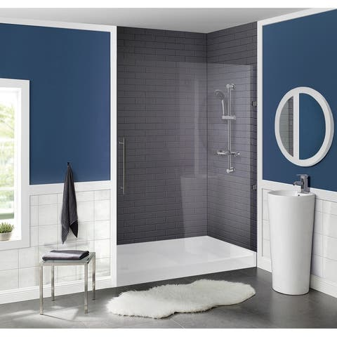 Swiss Madison Voltaire Acrylic White, Single-Threshold, Shower Base
