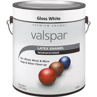 Valspar Ltx Gloss White Enamel 410.0065000.007 Unit: GAL