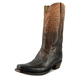 Lucchese Montgomery Men 2E Square Toe Leather Brown Western Boot