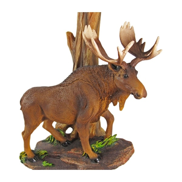 North American Bull Moose Table Lamp W/ Shade   Multicolored   Free  Shipping Today   Overstock.com   24522258