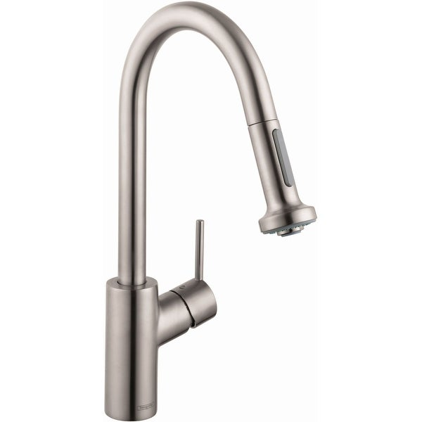 Hansgrohe 04310 Talis S 1.5 GPM Single Hole Pull-Down Kitchen Faucet with EcoRight and Quick Clean