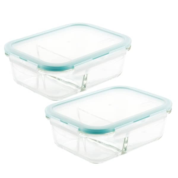 Locknlock Purely Better Glass Divided Food Storage 32oz 2 Pc Set Overstock 32255964