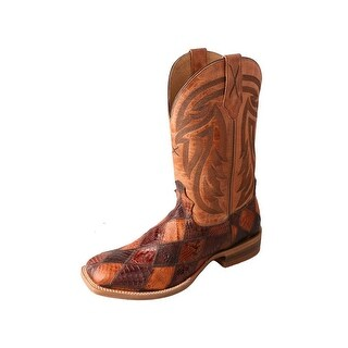Twisted X Western Boots Mens Gold Buckle Rancher Square Choc MRAL012