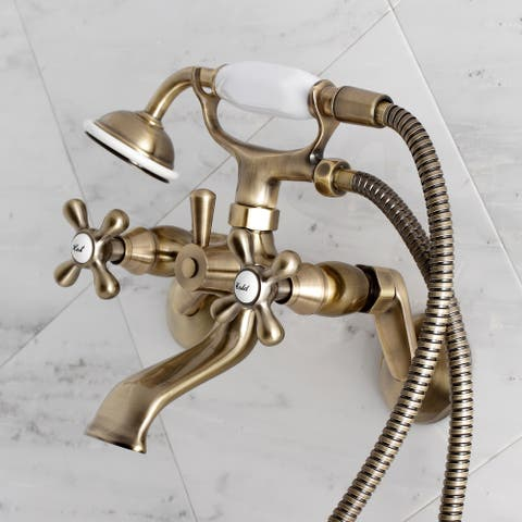 Traditional Wall Mount Clawfoot Tub Faucet with Hand Shower