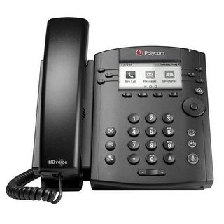 Refurbished Polycom VVX 310 2200-46161-025 6-line Entry-Level Business Media Phone with Gigabit Ethernet