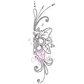 "Lazy Summer Days Cling Stamp 6.5""X3.5"" Package-Border Flower"