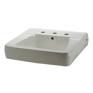 """Zurn Z5348 20"""" Wall Mounted Bathroom Sink with Widespread Faucet Holes"""