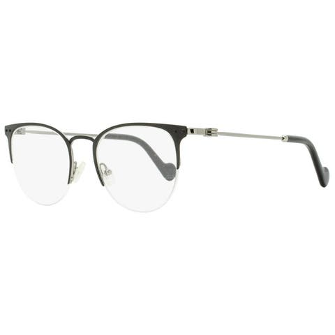 Moncler ML5024 005 Womens Black/Ruthenium 48 mm Eyeglasses