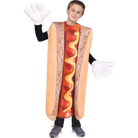 Kids Photo Real Hot Dog Costume up to size 14 - One Size (up to size 14)