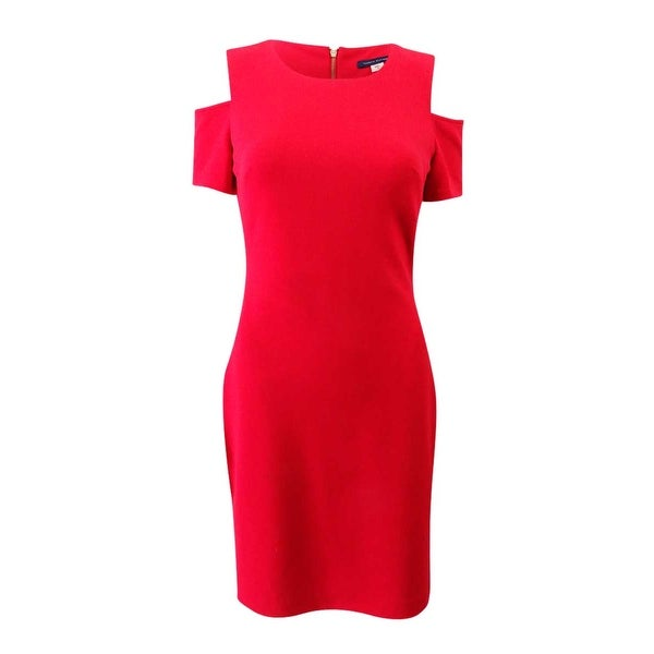 737681bb7a4 Shop Tommy Hilfiger Women's Cold-Shoulder Sheath Dress - Scarlet - On Sale  - Free Shipping Today - Overstock - 25428505