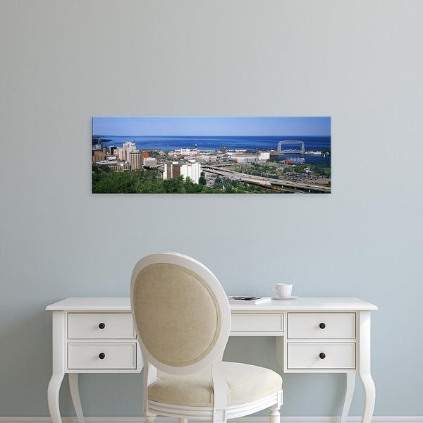 Easy Art Prints Panoramic Images's 'City at the waterfront, Lake Superior, Duluth, Minnesota, USA' Premium Canvas Art