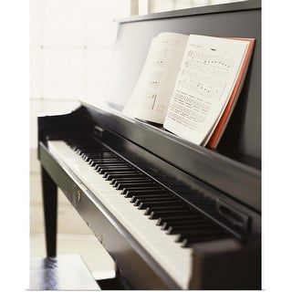 """Piano with sheet music"" Poster Print"
