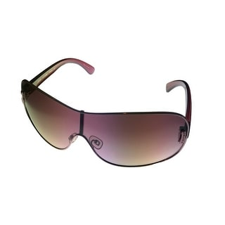 Esprit Womens Sunglass 19266 517 Burgudy Silver Metal Shield, Gradient Lens - Violet - Medium
