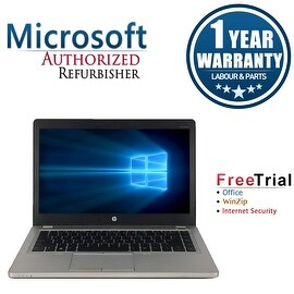 "Refurbished HP EliteBook Folio 9470M 14"" Laptop Intel Core I7 3667U 2.0G 8G DDR3 240G SSD Win 10 Professional 64 1 Year Warranty"