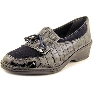 Ara Rachel Women Square Toe Leather Blue Loafer