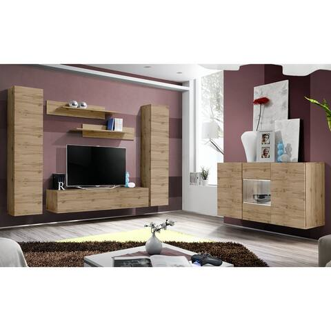 Fly SBII-A1 Wall Mounted Floating Modern Entertainment Center