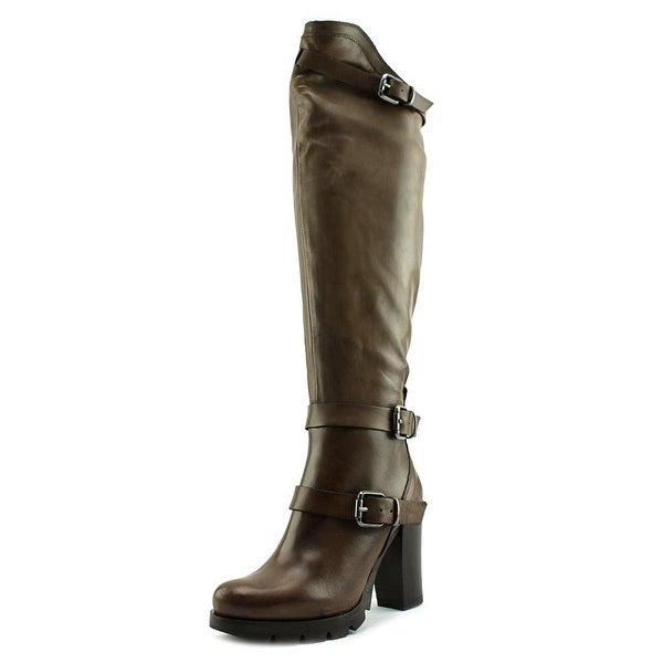Charles David Delaware Women Round Toe Leather Knee High Boot