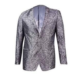 Tallia Men's Slim-Fit Metallic Sport Coat (40R, Black/White) - BLACK/WHITE - 40r