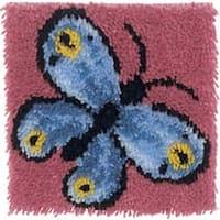 """Butterfly - Wonderart Latch Hook Kit 12""""X12"""""""