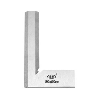 Try Square Ruler, 80mmx50mm Woodworking Blade Measuring Tool Right Angle - Metric 80mmx50mm