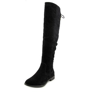 XOXO Trishh2 Round Toe Suede Knee High Boot