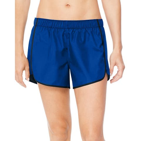 Hanes Sport Women's Performance Running Shorts - Color - Awesome Blue/Ebony - Size - M