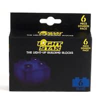 Light Stax LED Light-Up Building Blocks 6-Piece Expansion Pack: Blue - Multi