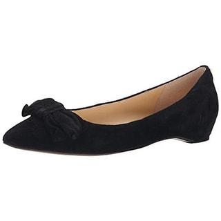 Ivanka Trump Womens Catrina Pointed Toe Bow Flats - 9 medium (b,m)