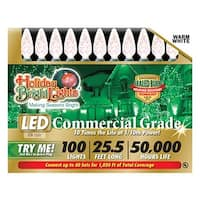 Holiday Bright Lights LEDBX-C6100-WW 100Light WW C6 LED Light Set