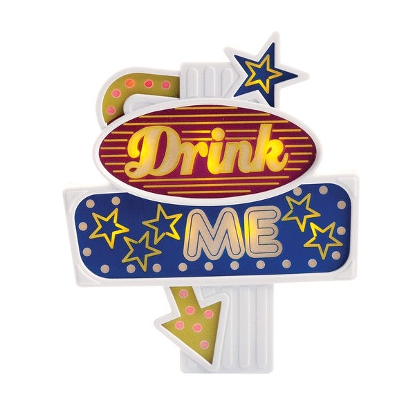 Flashing Led Food Topper Drink Me Great For Celebrations Or